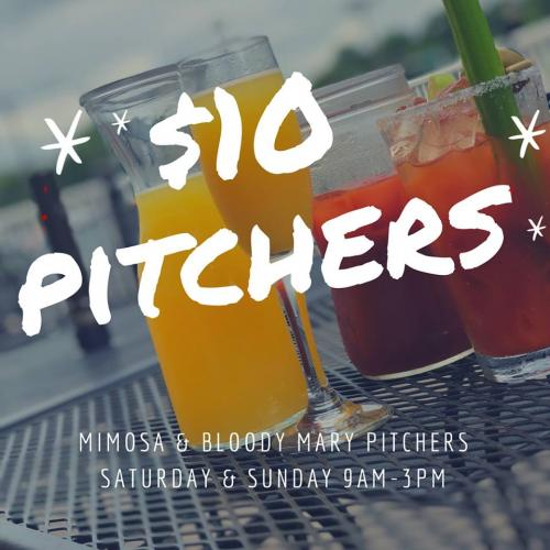 $10 pitchers for brunch