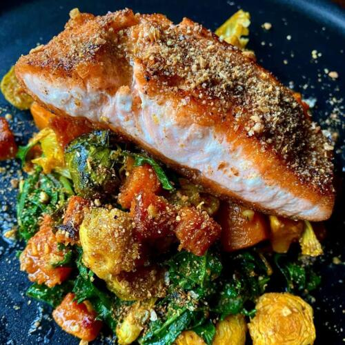 Dukkah Roasted Salmon